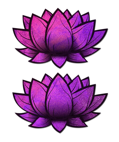Holographic Pink Lotus Nipple Pasties