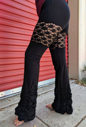 Lace Ruffle Pants