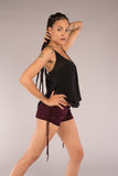 Burnout Velvet Cowgirl Shorts by Warrior Within