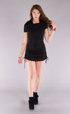 Black Bamboo Huntress Cinch Dress