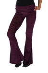 Maroon Burnout Velvet Slim Bells - Funk & Flash