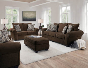Artesia Chocolate Sofa and Loveseat - United Furniture Outlet