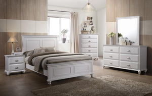 Cape Cod 6 Piece Full Bedroom Set Simmons