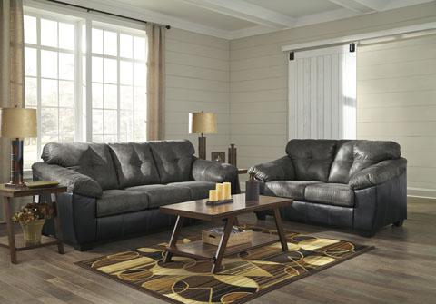Gregale Slate Sofa and Loveseat