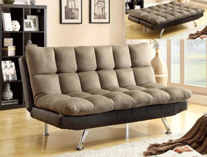 Sundown Adjustable Brown Futon