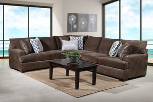 Winston Saddle Brown Sectional - United Furniture Outlet