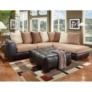 Saddle Brown Sectional