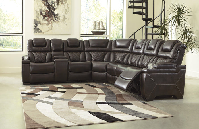 Warnerton Brown Power Sectional