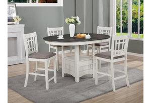 Hartwell Counter Height Table Set White