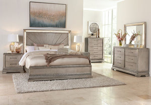 Sophia Gold 7 Piece King Bedroom Set klaussner