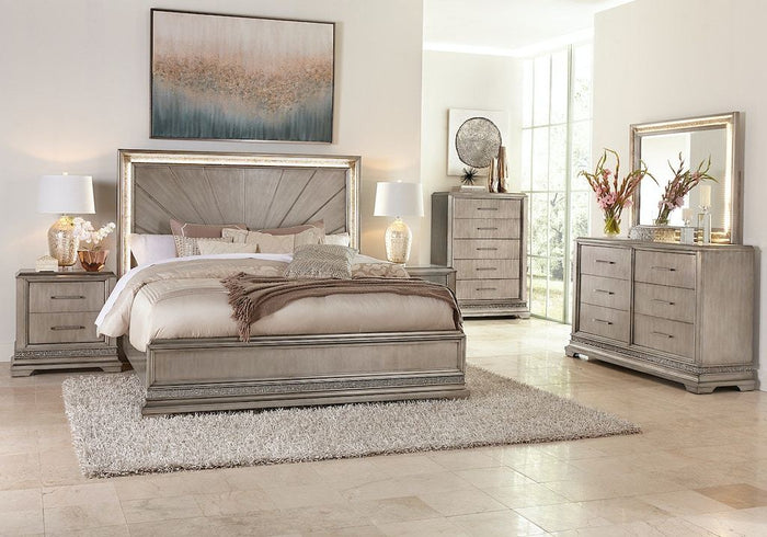 Sophia Gold 7 Piece King Bedroom Set