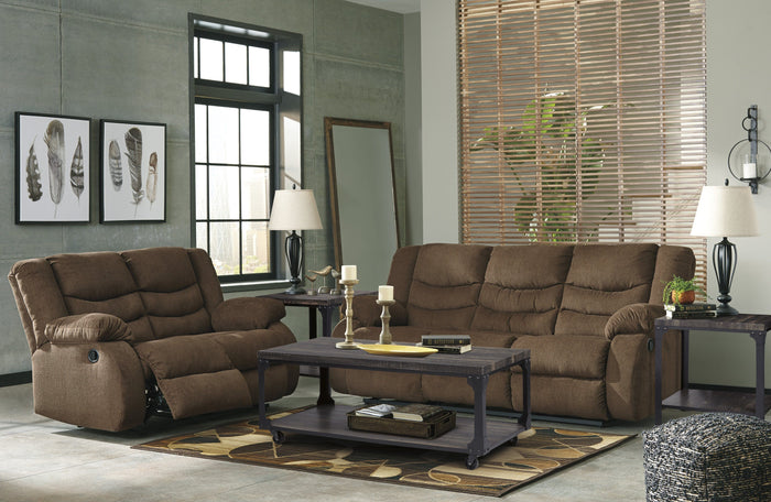 Tulen Brown Sofa and Loveseat