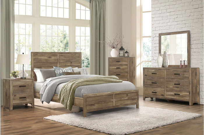 Mandan Queen Brown Bedroom Set
