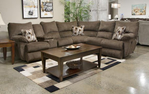 Elliott Brown Electric Recliner Sectional Living Room Jackson