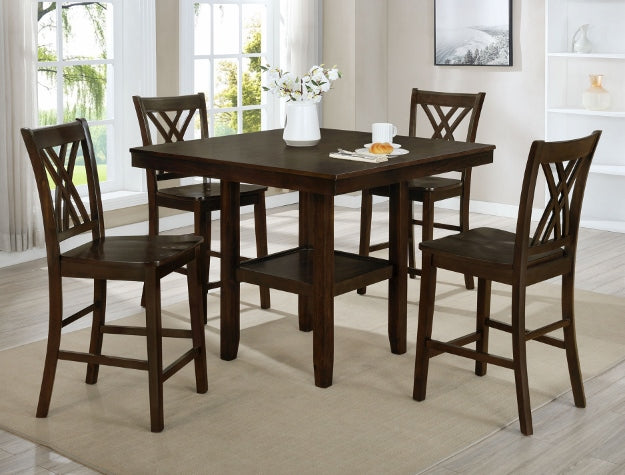 Josie Espresso Table with 4 Chairs