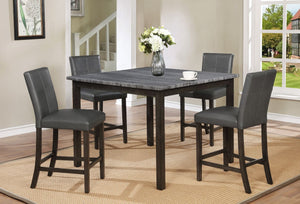 Pompei Grey Pub Table with 4 Chairs