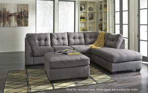 Maier Grey Sectional with Chaise Ashley