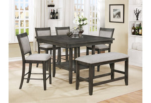 Fulton 7 Piece Gray Counter Height Dining Set