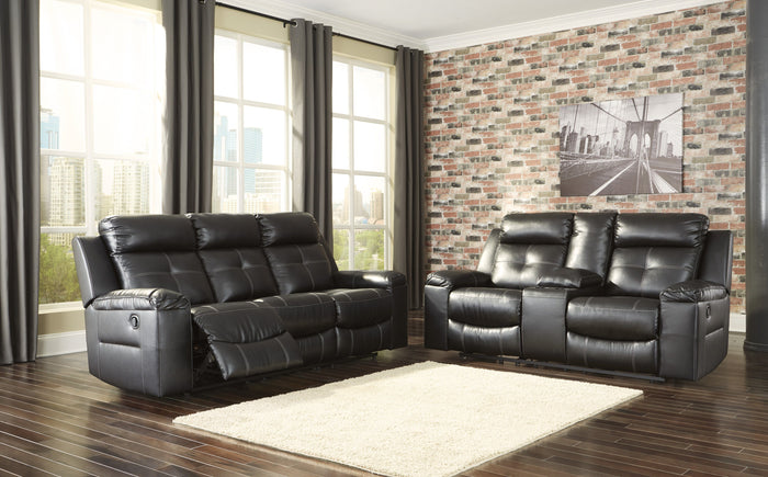 Kempten Black Sofa and Loveseat