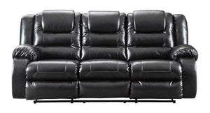 Vacherie Black Recliner Sofa and Loveseat - United Furniture Outlet