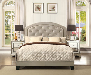 Gold Gaby Full Platform Bed with Adjustable Headboard