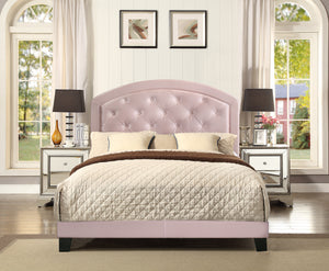 Pink Gaby Full Platform Bed with Adjustable Headboard