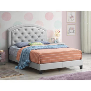 Gaby Silver Platform Bed - United Furniture Outlet