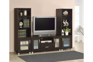 Espresso Finish Entertainment Center - United Furniture Outlet