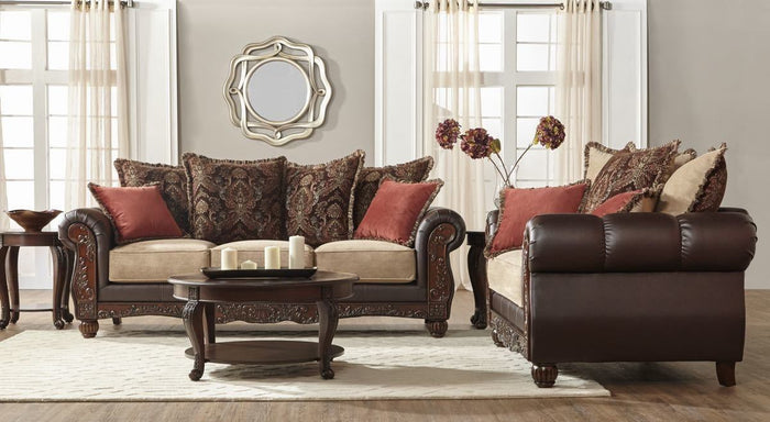 Kruger Fawn Sofa and Loveseat