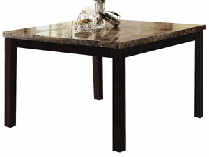 Bruce Marble Counter Height Table with 6 Chairs - United Furniture Outlet