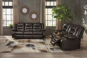 Vacherie Brown Recliner Sofa and Loveseat