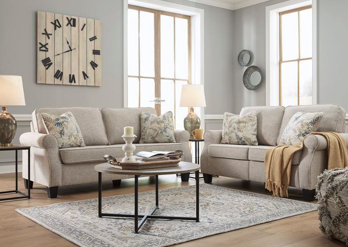 Alessio Beige Sofa and Loveseat