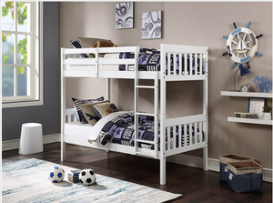 Twin/ Twin White Bunk bed