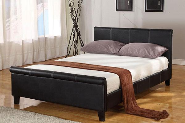 Queen Platform Leather Bed