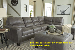 Navi Smoke Grey Sectional with Chaise - United Furniture Outlet