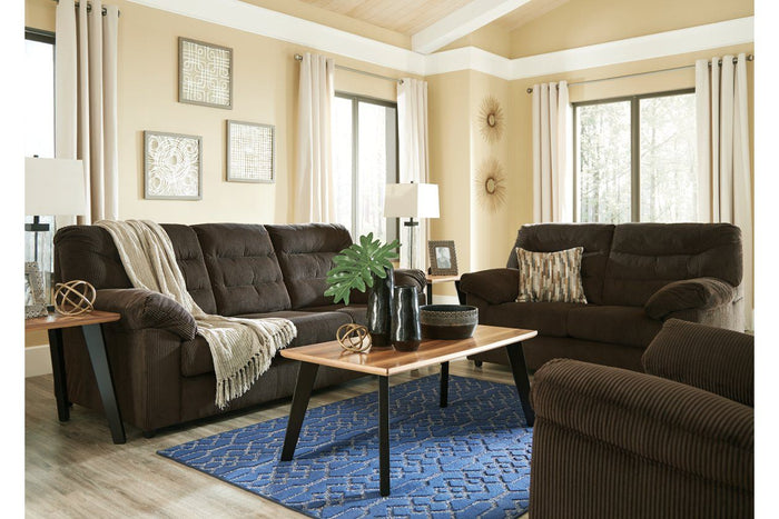 Gosnell Chocolate Sofa and Loveseat