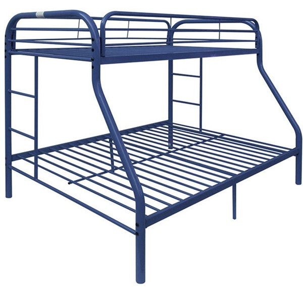 Twin/ Full Metal Blue Bunk bed