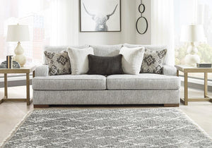 Mercado Pewter Sofa and Loveseat Ashley