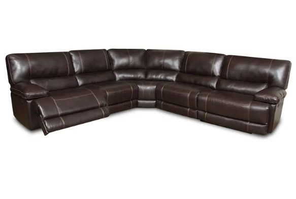 Roman Chocolate Recliner Sectional