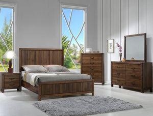 Belmont Brown 7 Piece Full Bedroom Set Crown Mark