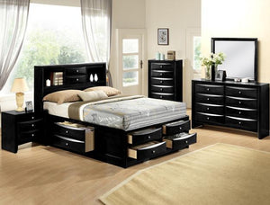 Emily Queen Black Bedroom Set - United Furniture Outlet