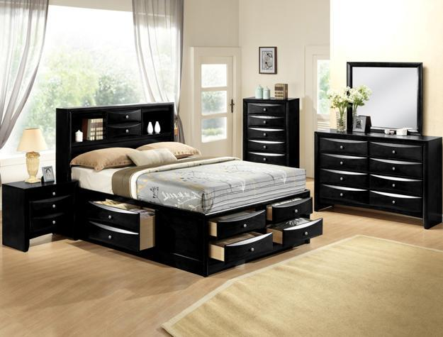 Emily Queen Black Bedroom Set