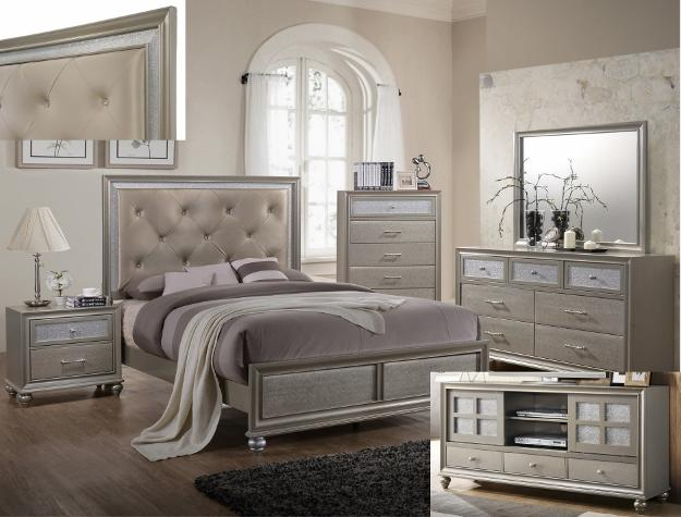 Lila Gold Piece King Bedroom Set