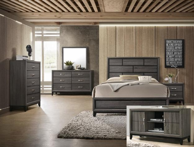 Akerson Grey 7 Piece Queen Bedroom Set