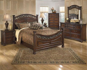 Leahlyn Warm Brown 7 Piece Queen Bedroom Set