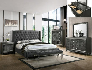 Giovani 7 Piece Queen/King Bedroom Set - United Furniture Outlet