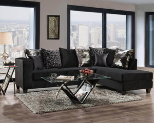 Dazzle Black Sectional - United Furniture Outlet