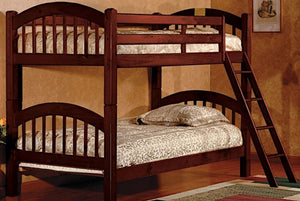 Twin/Twin Brown Wood Bunk bed