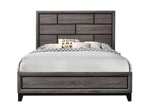 Akerson Gray Bed Crown Mark King
