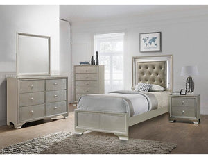 Lyssa Champaigne LED Twin Bedroom Set - United Furniture Outlet